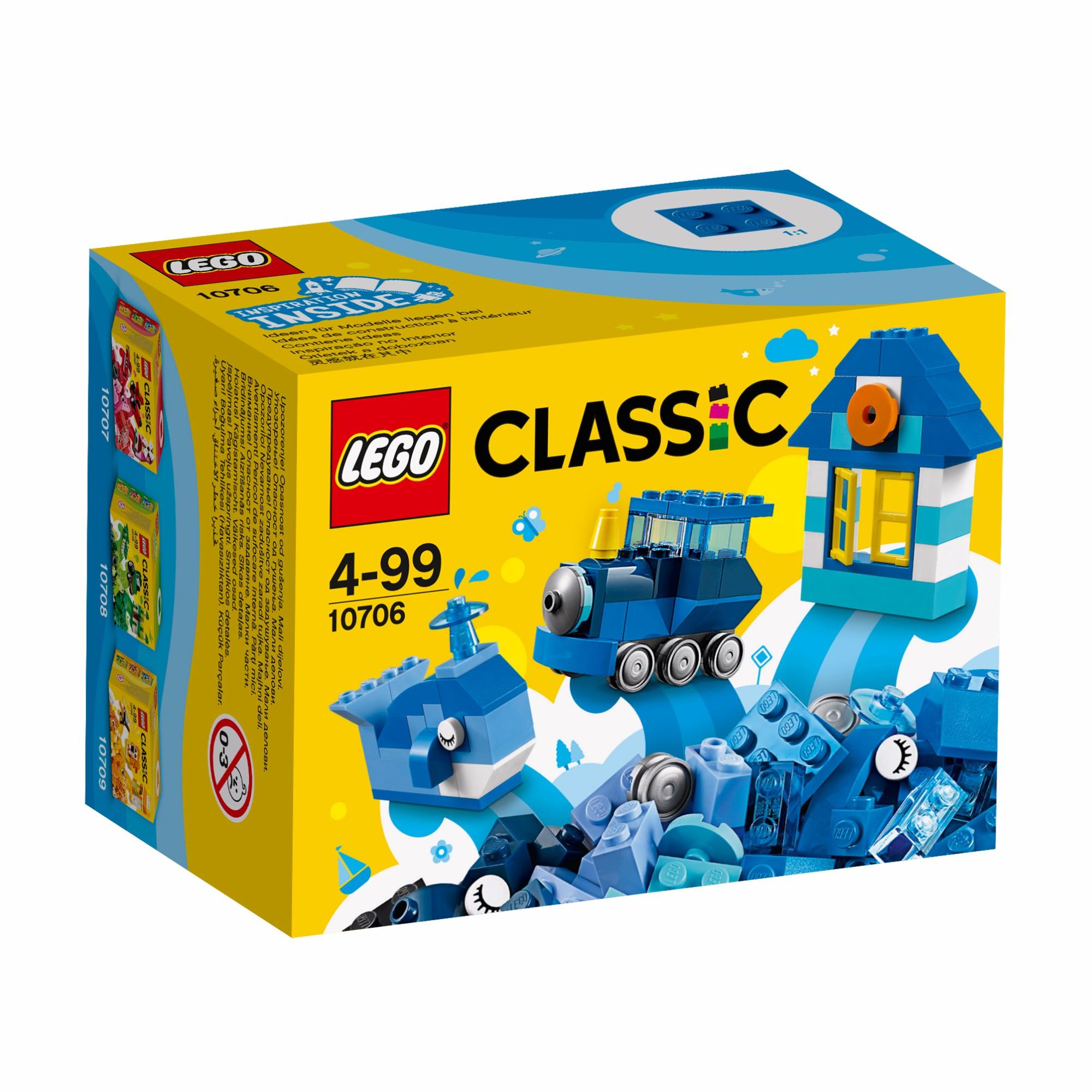 Konstruktorius LEGO CLASSIC Mėlynoji kūrybos dėžutė vaikams nuo 4 metų (10706)