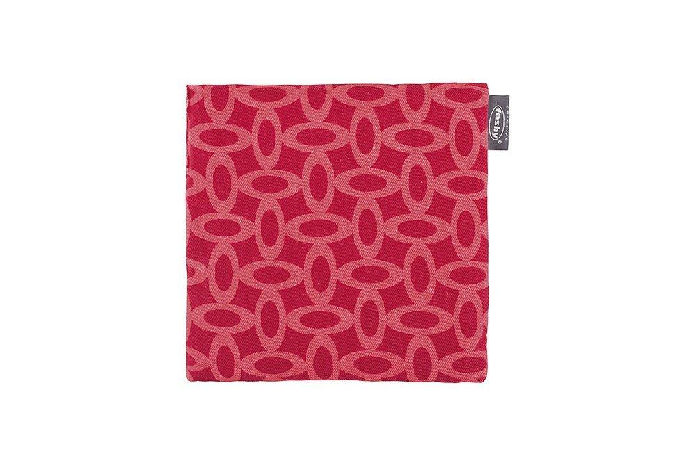 Raudona šildyklė FASHY su vyšnių kauliukų užpildu, 19 x 20 cm (6333/41)