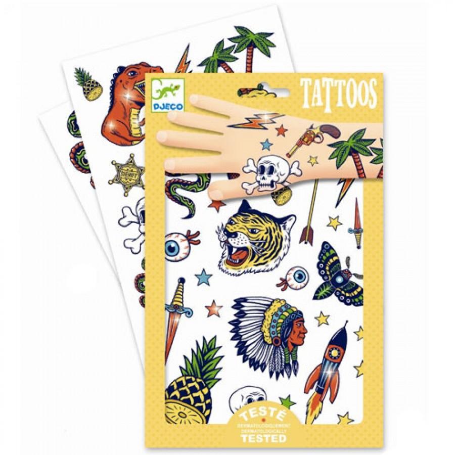 Tatuiruočių rinkinys DJECO Bang Bang vaikams nuo 3 metų (DJ09577)