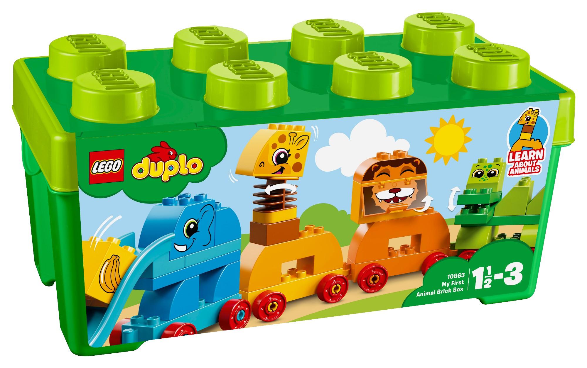 Konstruktorius LEGO DUPLO Mano pirmoji gyvūnėlių kaladėlių dėžutė 1-3 metų vaikams (10863)