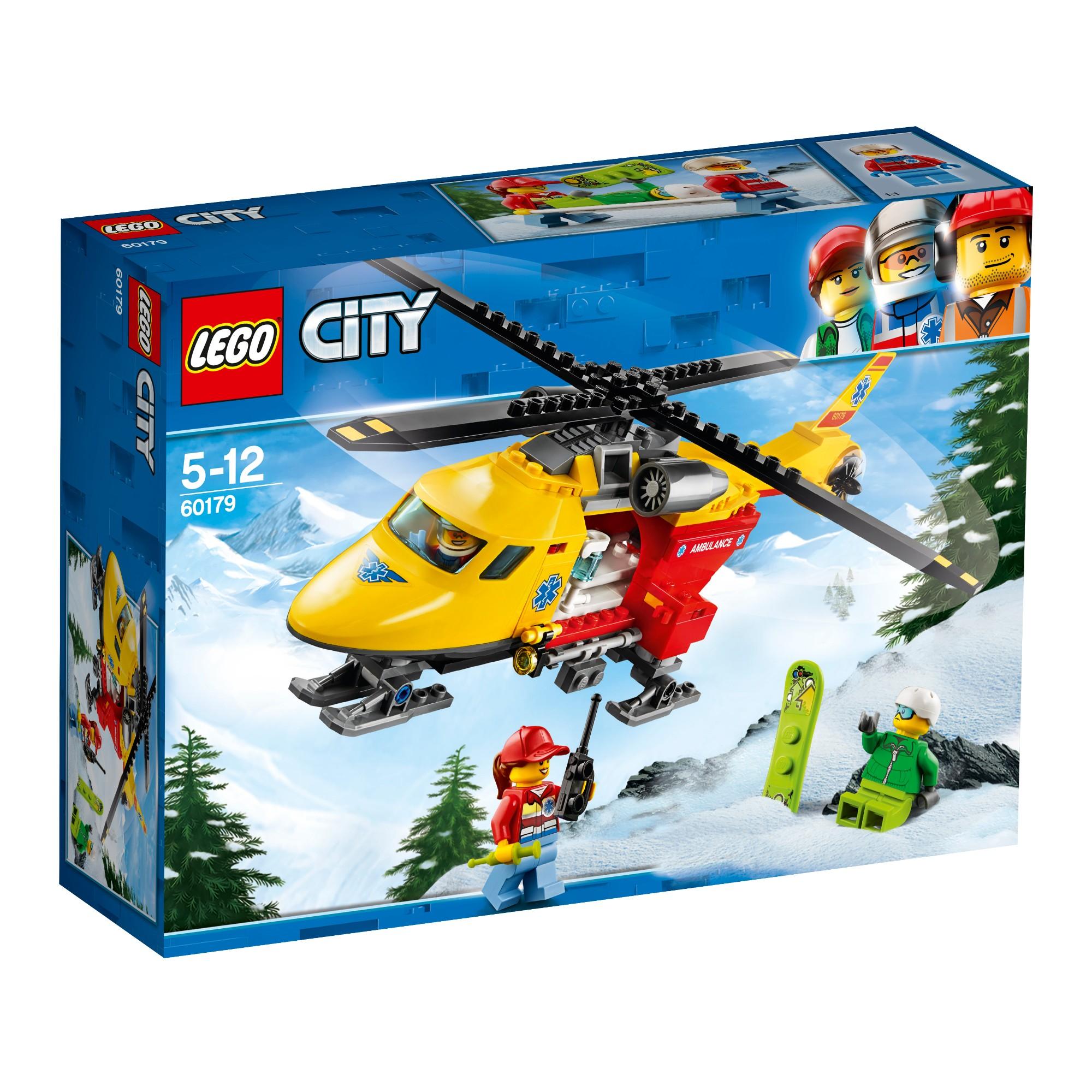 LEGO CITY GREAT VEHICLES Greitosios pagalbos sraigtasparnis 5-12 metų vaikams (60179)