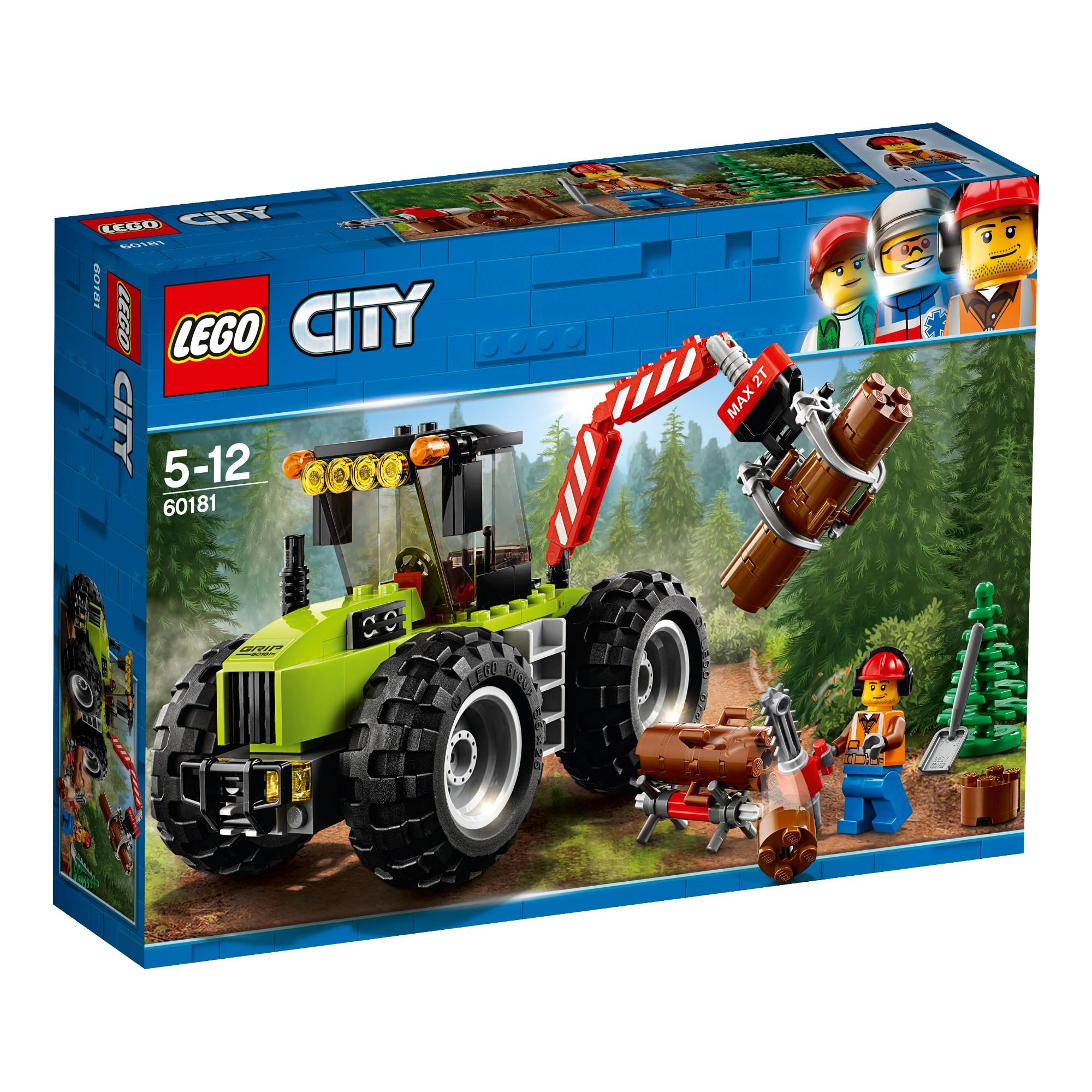 Konstruktorius LEGO CITY GREAT VEHICLES Miško traktorius 5-12 metų vaikams (60181)