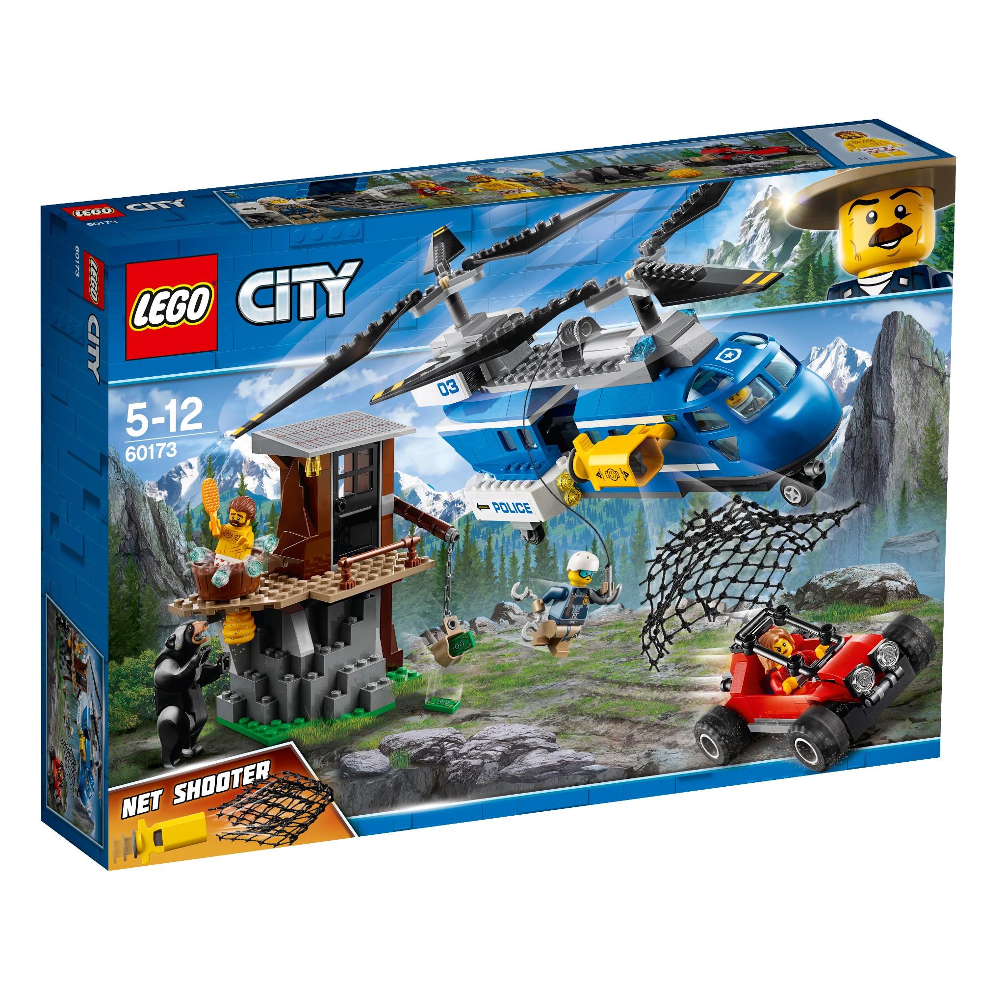 Konstruktorius LEGO CITY POLICE Suėmimas kalnuose 5-12 metų vaikams (60173)
