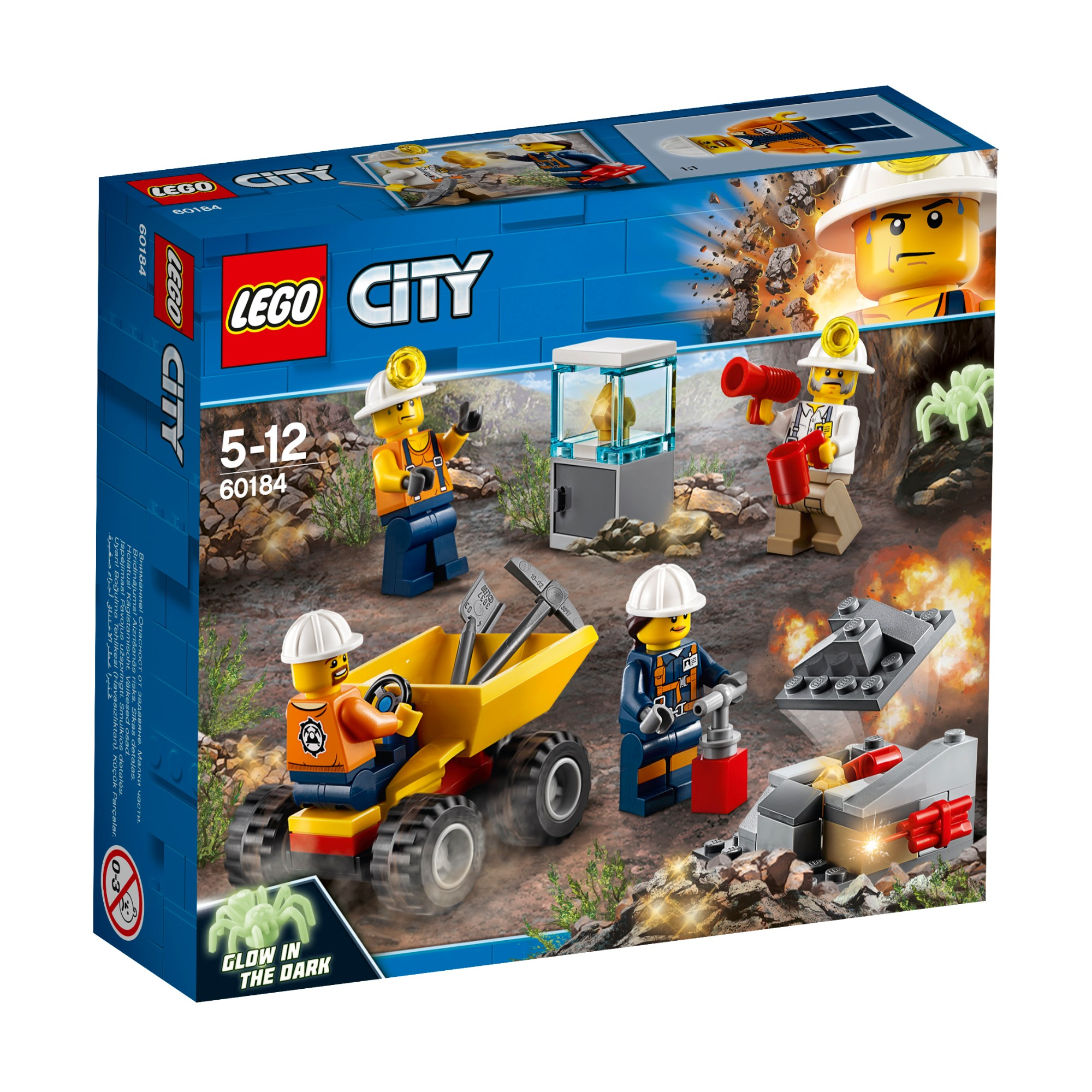 Konstruktorius LEGO CITY POLICE Kalnakasių komanda 5-12 metų vaikams (60184)