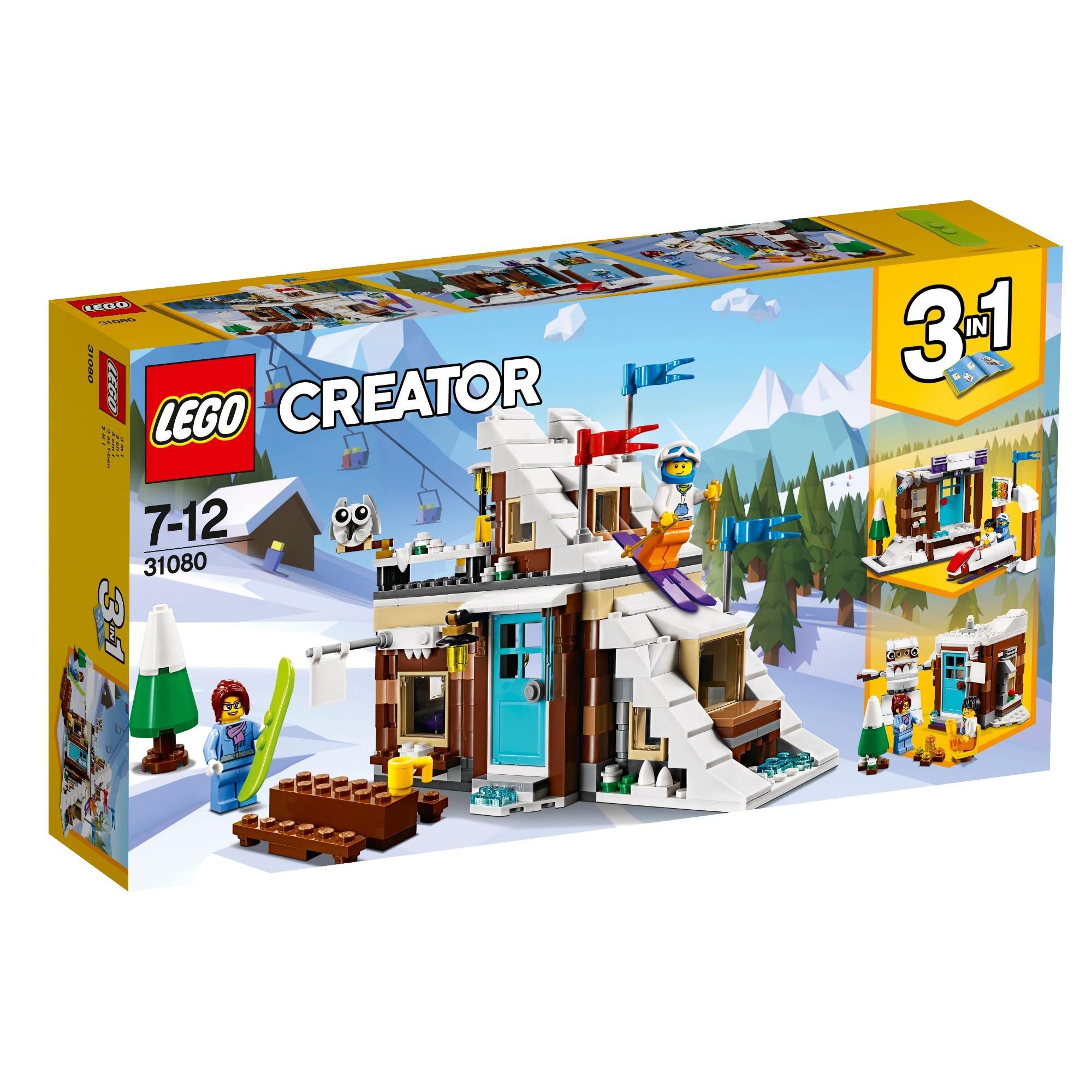 Konstruktorius LEGO CREATOR Modulinės žiemos atostogos 7-12 metų vaikams (31080)