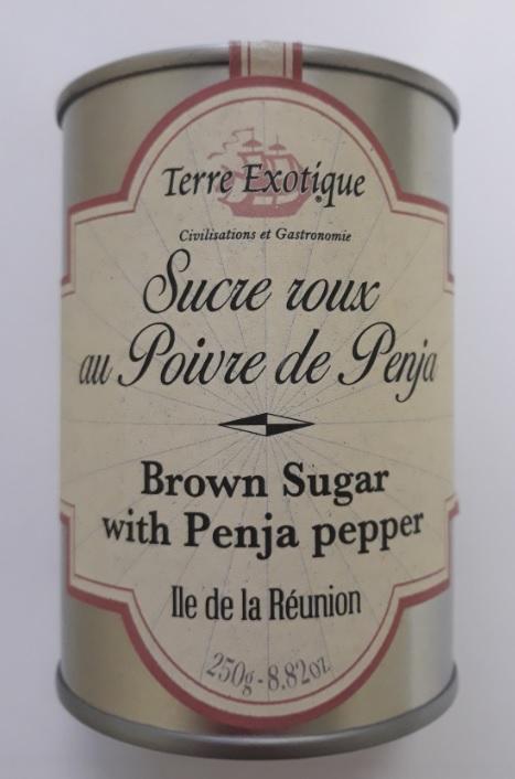 Rudasis cukrus su Penja pipirais TERRE EXOTIQUE, 250g