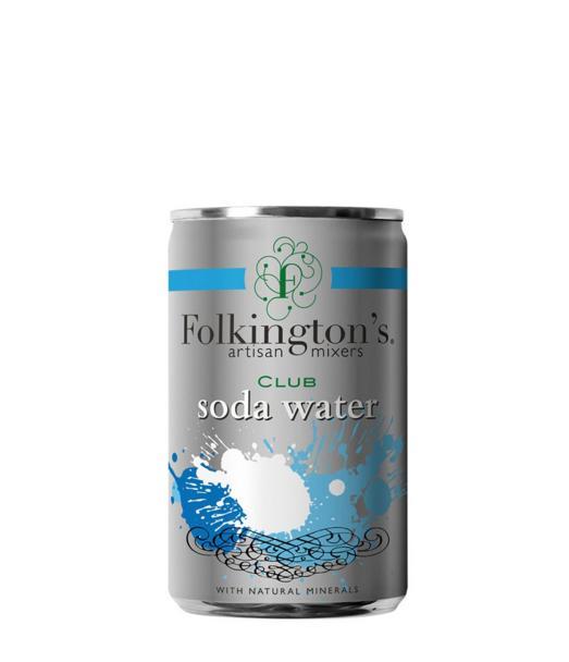 Gazuotas gėrimas FOLKINGTON'S CLUB SODA WATER, 150ml