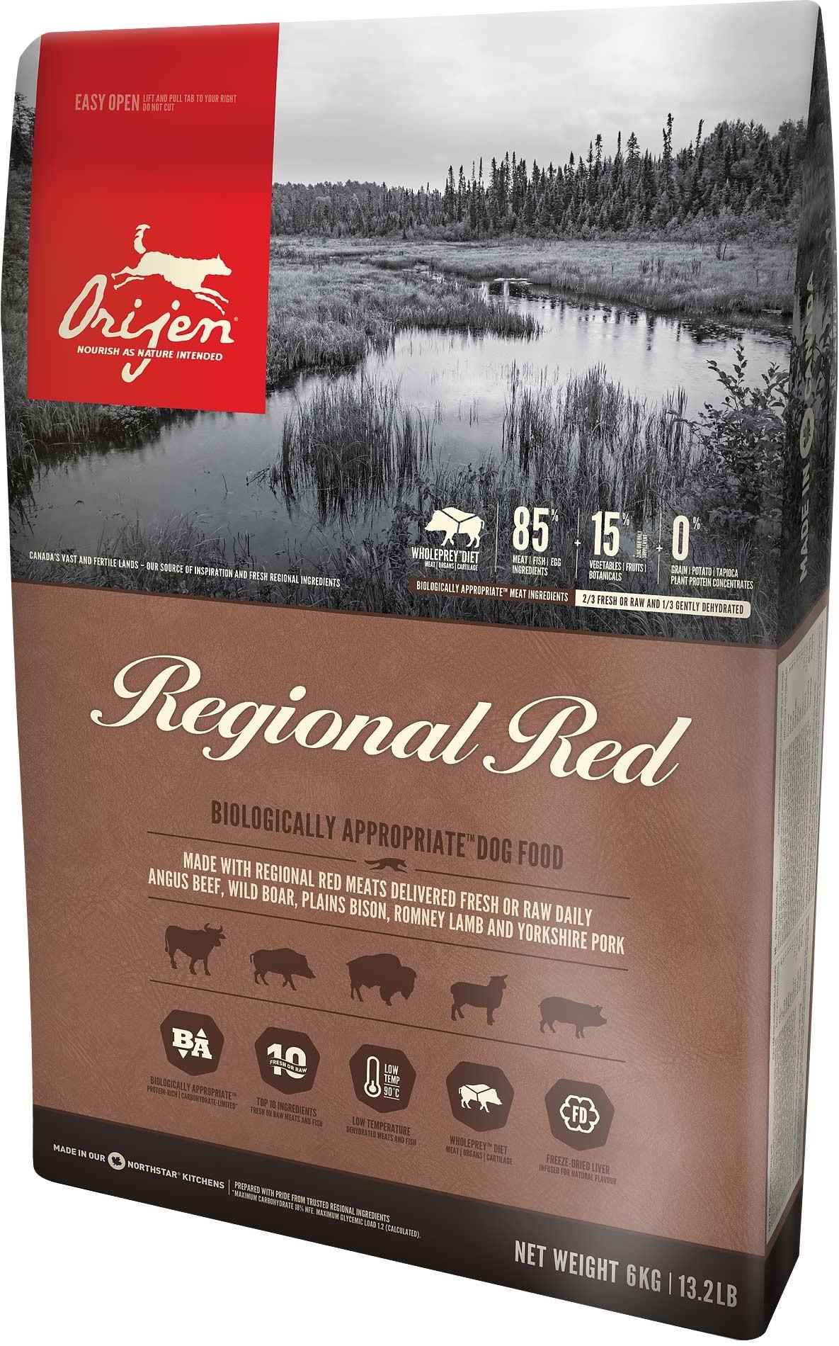 Sausas maistas šunims ORIJEN Regional Red, 2 kg