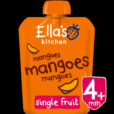EKOLOGIŠKA Ella's Kitchen MANGŲ tyrelė kūdikiams nuo 4 mėn., 70g