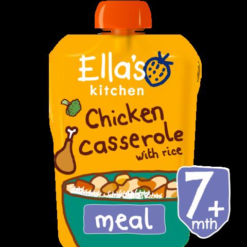 Ekologiška kreminė vištienos ir kukurūzų košė su daržovių gabaliukais ELLA'S KITCHEN kūdikiams nuo 7 mėn., 130 g