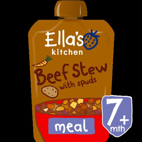 ELLA'S KITCHEN ekologiška jautienos troškinys su bulvėmis kūdikiams nuo 7 mėn, neto masė 130g.