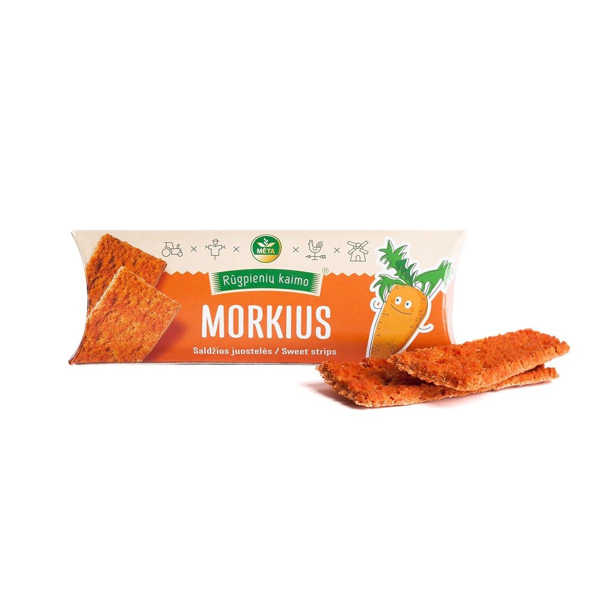 Morkų traškučiai Morkius Rūgpienių kaimo, 45g