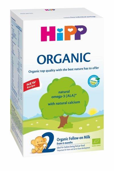 Ekologiškas tolesnio maitinimo pieno mišinys HIPP 2 ORGANIC (nuo 6 mėn.), 300 g
