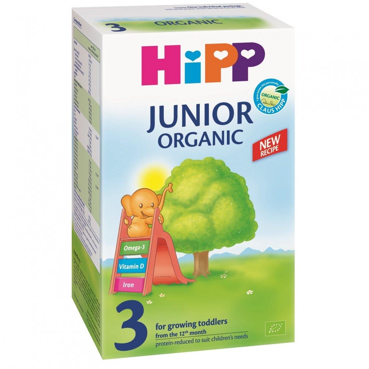 Ekologiškas tolesnio maitinimo pieno mišinys HIPP 3 JUNIOR ORGANIC (nuo 12mėn.), 500 g