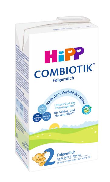 Paruoštas ekologiškas tolesnio maitinimo pieno mišinys HIPP 2 COMBIOTIC (nuo 6 mėn.), 450 ml