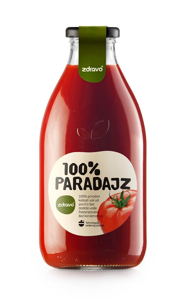 Pomidorų sultys ZDRAVO, 750 ml