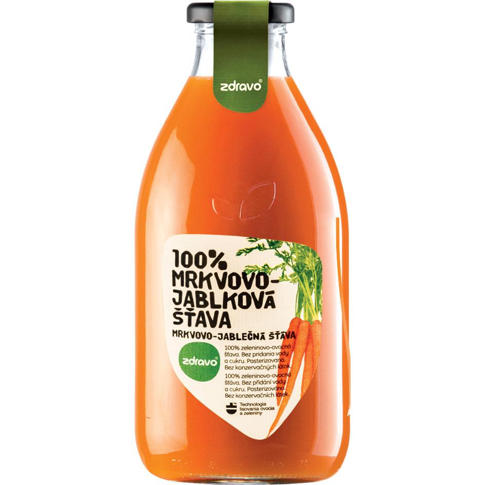 Morkų ir obuolių sultys ZDRAVO, 750 ml