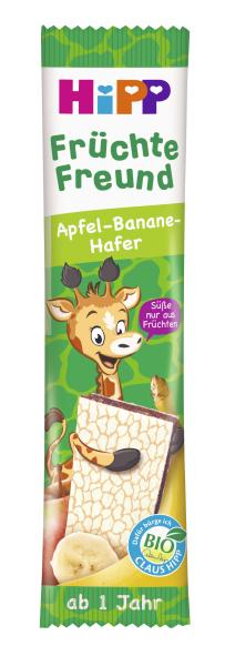 Ekologiškas bananų, obuolių sulčių ir avižų batonėlis HIPP (nuo 1m.), 23 g