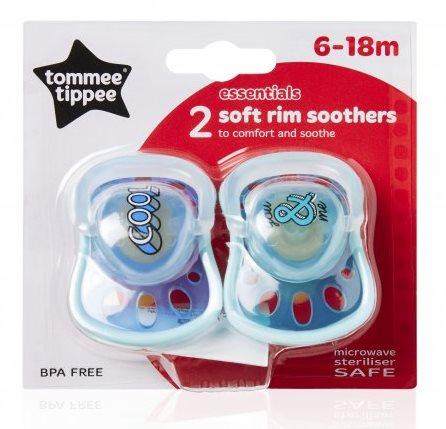 Čiulptukų rinkinys TOMMEE TIPPEE Soft Rim 6-18 mėn. kūdikiams, 2 vnt. (433008TT)
