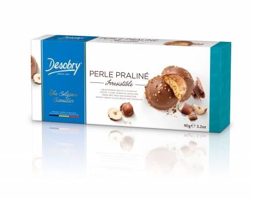Belgiški sausainiai riešutiniai Perlai DESOBRY, 90g