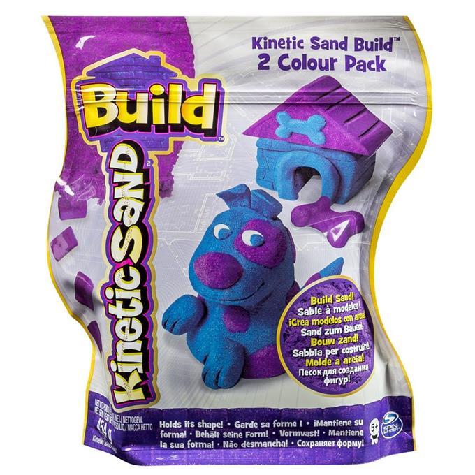 Kinetinis smėlis KINETIC SAND Build vaikams nuo 3 metų (purpurinis-mėlynas), 454 g