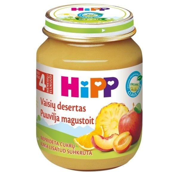 Ekologiška vaisių deserto tyrelė HIPP (nuo 4 mėn.), 125 g