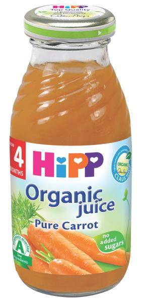Ekologiškos morkų sultys HIPP (nuo 4 mėn.), 200 ml
