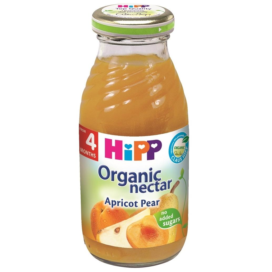 Ekologiškas abrikosų ir kriaušių nektaras HIPP (nuo 4 mėn.), 200 ml