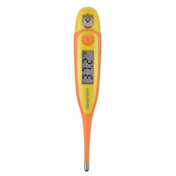 Vaikiškas termometras GERATHERM Fever Beaver su knygute