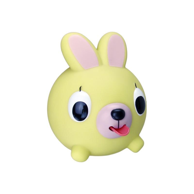 Emocinis žaisliukas JABBER BALL Geltonas kiškutis vaikams nuo 18 mėn.