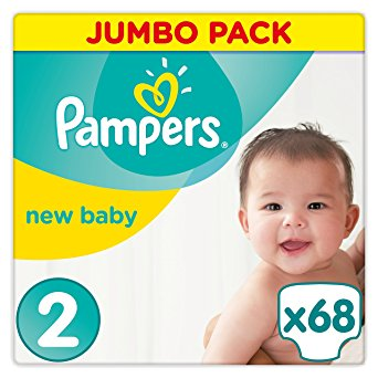 PAMPERS Premium Protection New Baby sauskelnės 2 dydis (3-6kg), Jumpo pack, 68 vnt.