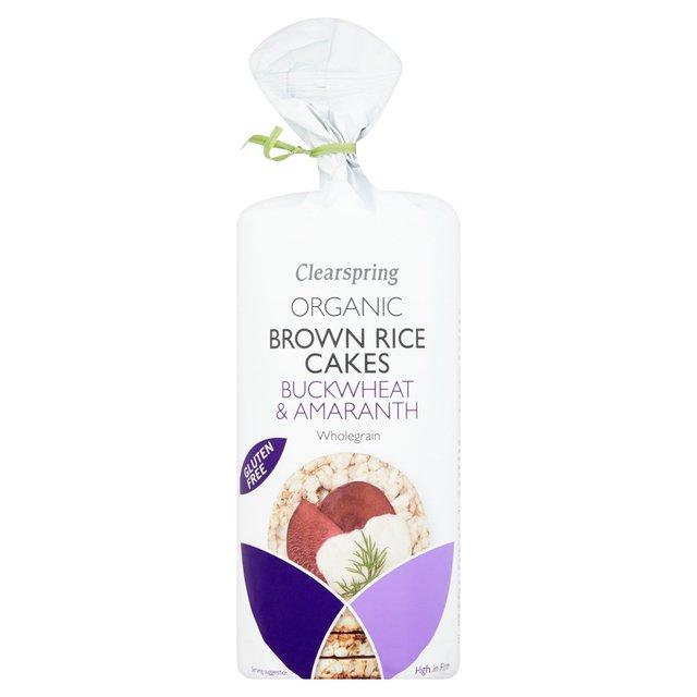 Ekologiški rudųjų ryžių trapučiai su grikiais ir burnočių sėklomis CLEARSPRING, 120g
