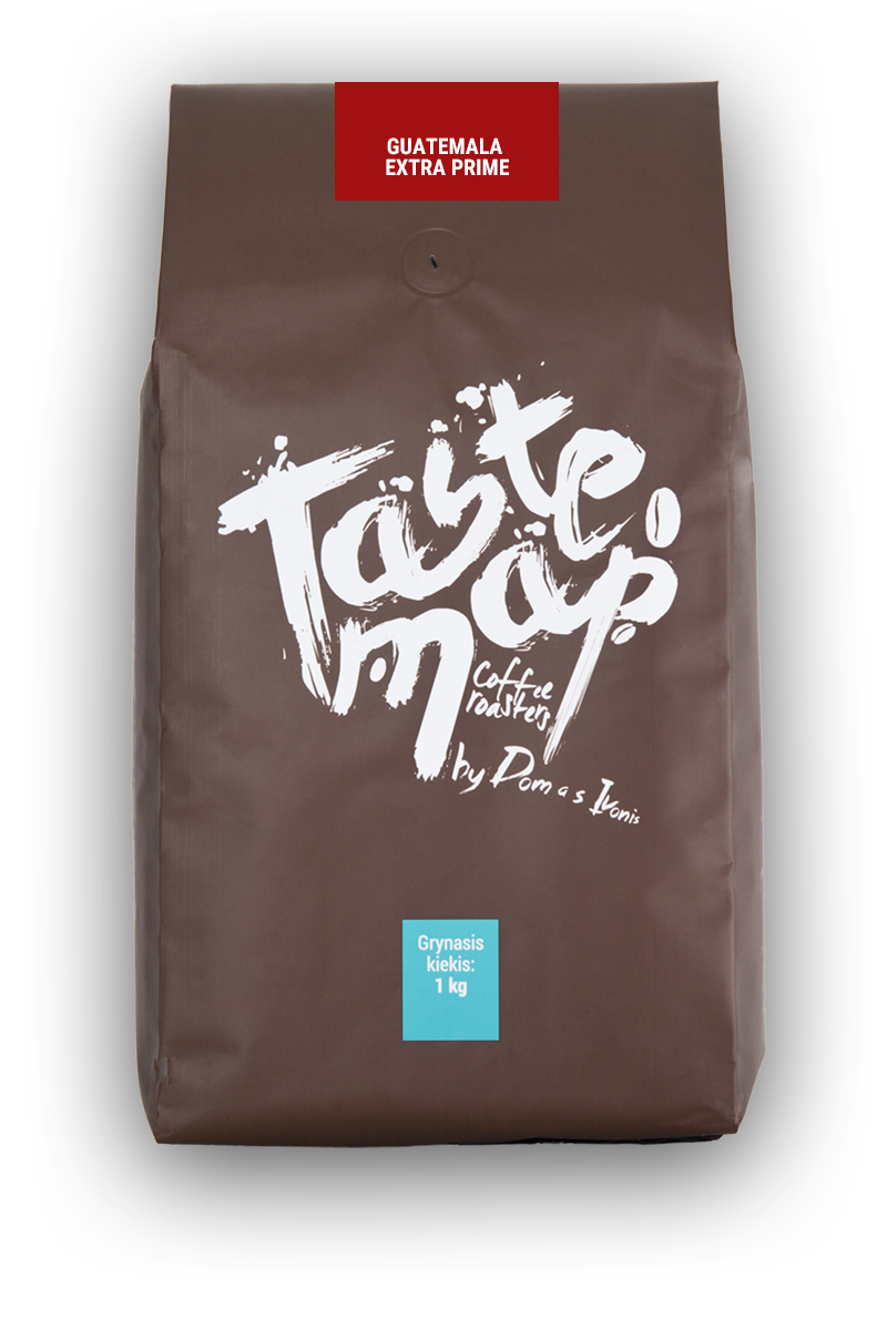 Šviežiai skrudinta kava GUATEMALA EXTRA PRIME, 1kg