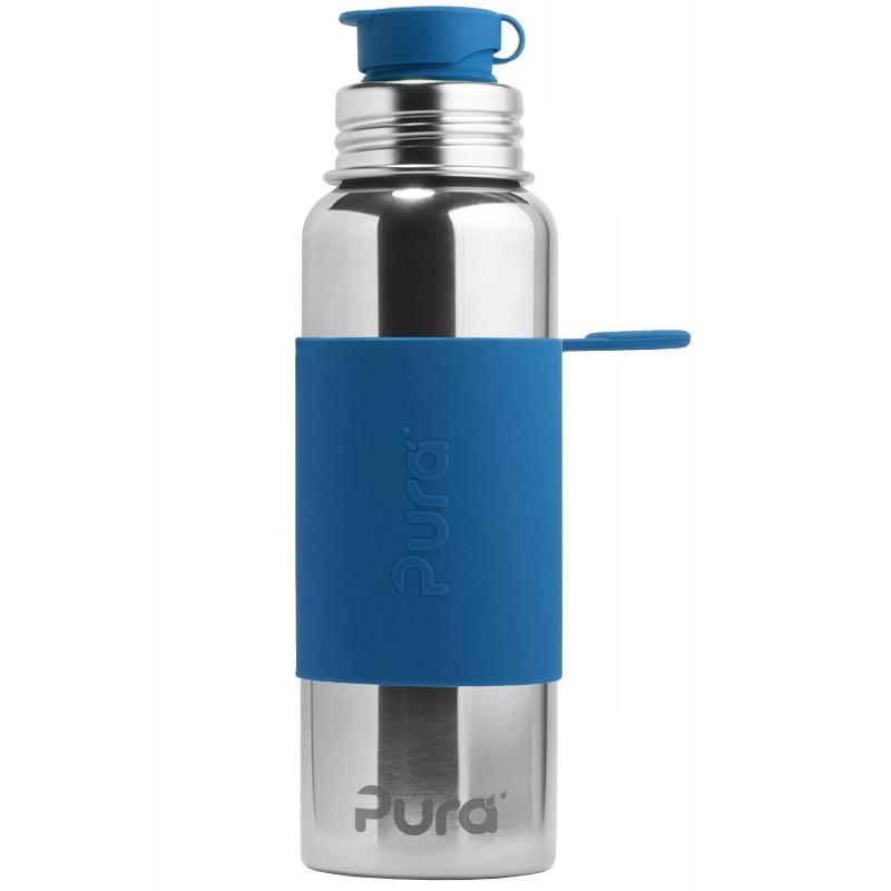 Tamsiai mėlyna sportinė gertuvė PURA KIKI, 850 ml