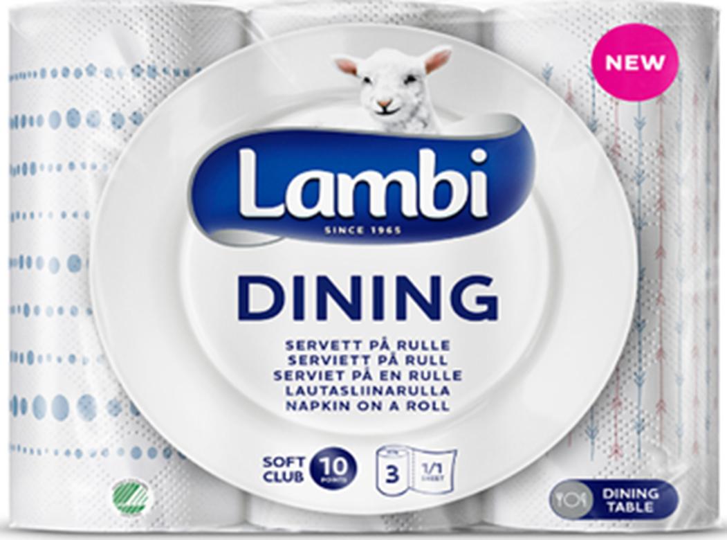 Lambi Dining popieriniai rankšluosčiai. 3 sluoks.,  3 rit.
