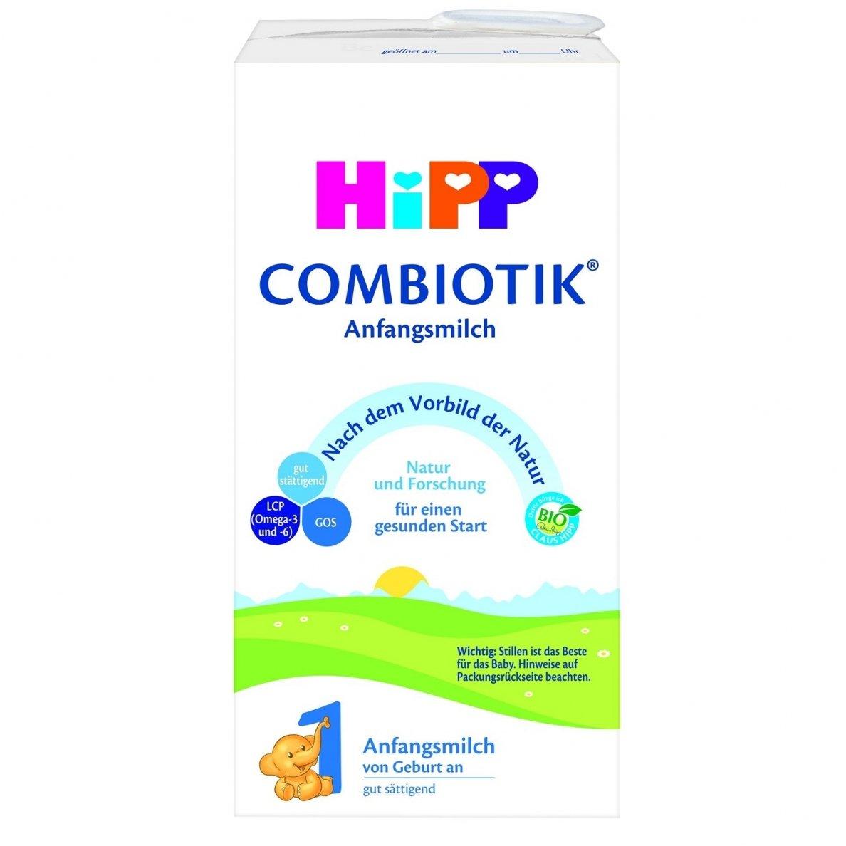 Paruoštas ekologiškas pradinis pieno mišinys HIPP 1 COMBIOTIC (nuo gimimo), 450 ml