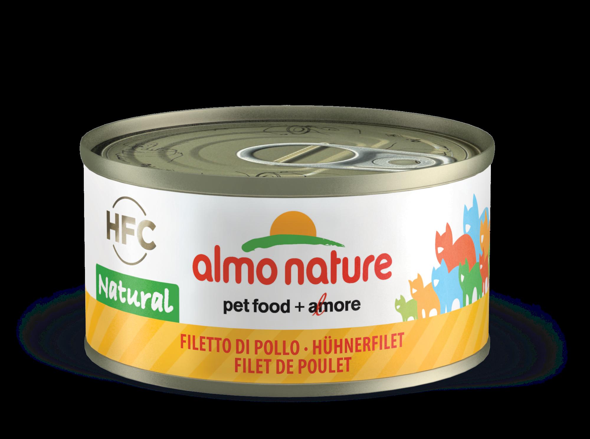 Konservai katėms – ALMO NATURE HFC Natural, vištienos file, 70g