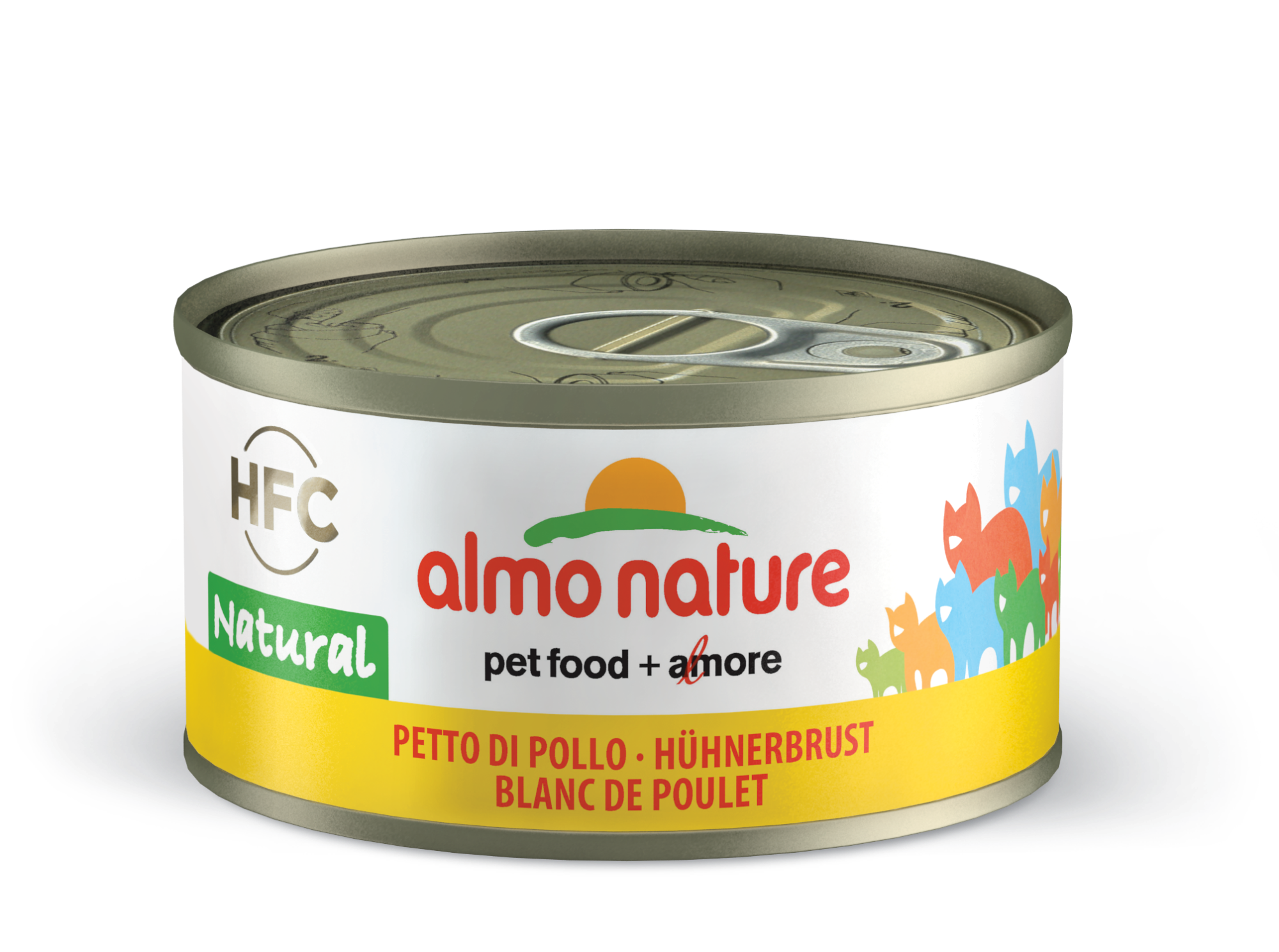 Konservai katėms – ALMO NATURE HFC Natural, vištienos krūtinėlė, 70g