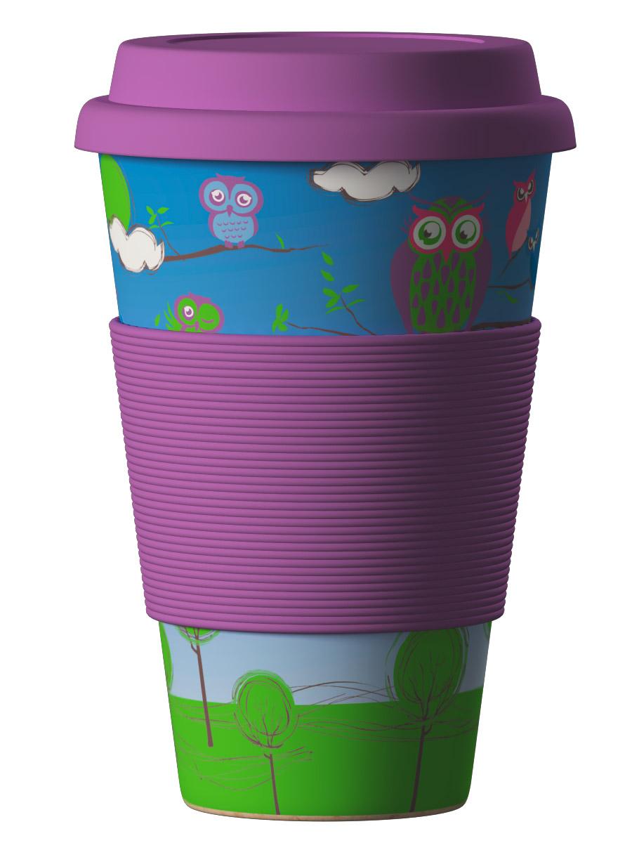 Bambukinis puodelis Owls