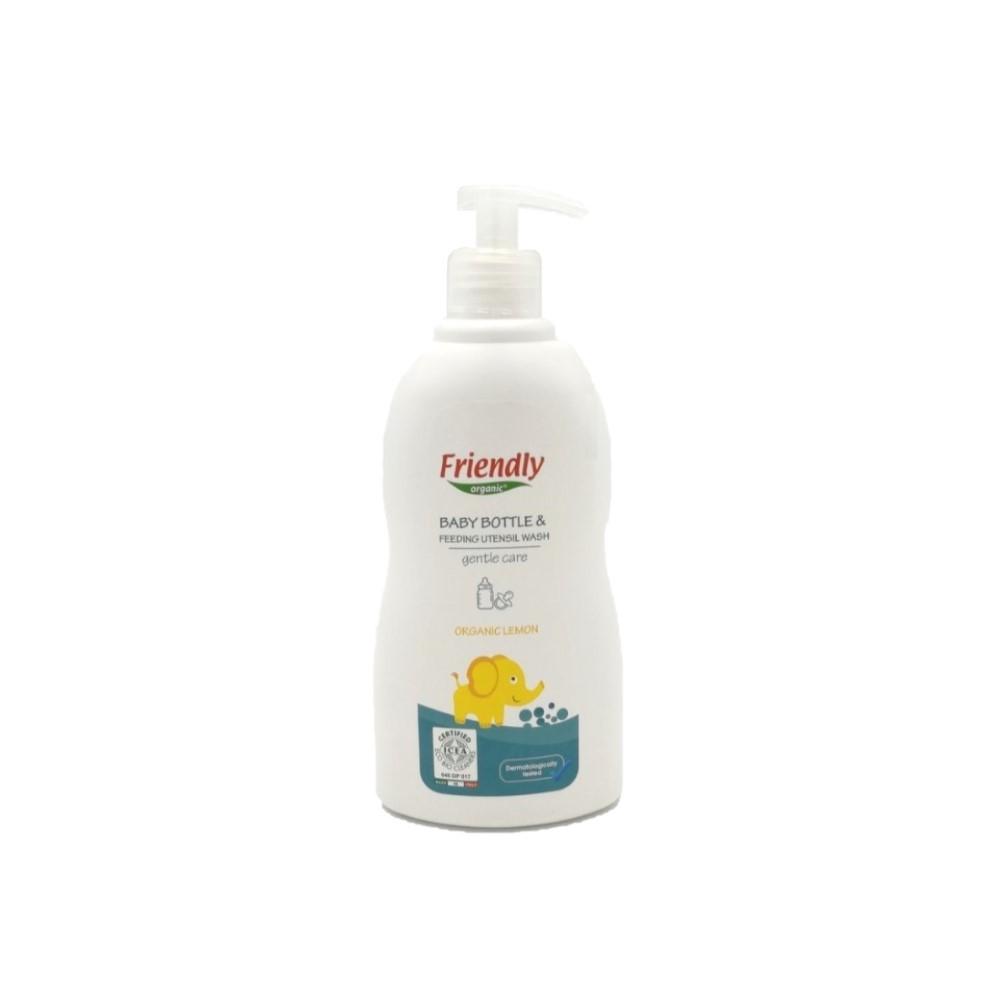 Ekologiškas buteliukų plovimo skystis FRIENDLY ORGANIC, citrinų kvapo, 500 ml