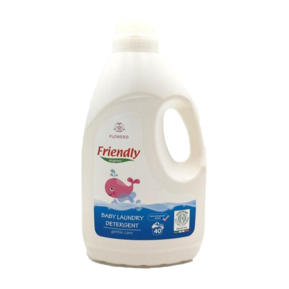 Ekologiškas skystas skalbiklis vaikų rūbams FRIENDLY ORGANIC, gėlių kvapo, 2 L