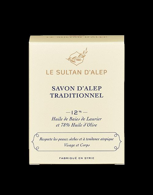 Alepo muilas LE SULTAN D'ALEP jautrios ir alergiškos odos priežiūrai, 200g