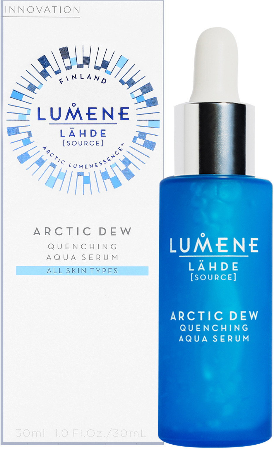 Serumas LUMENE LAHDE ARCTIC DEW Quenching Aqua, 30 ml