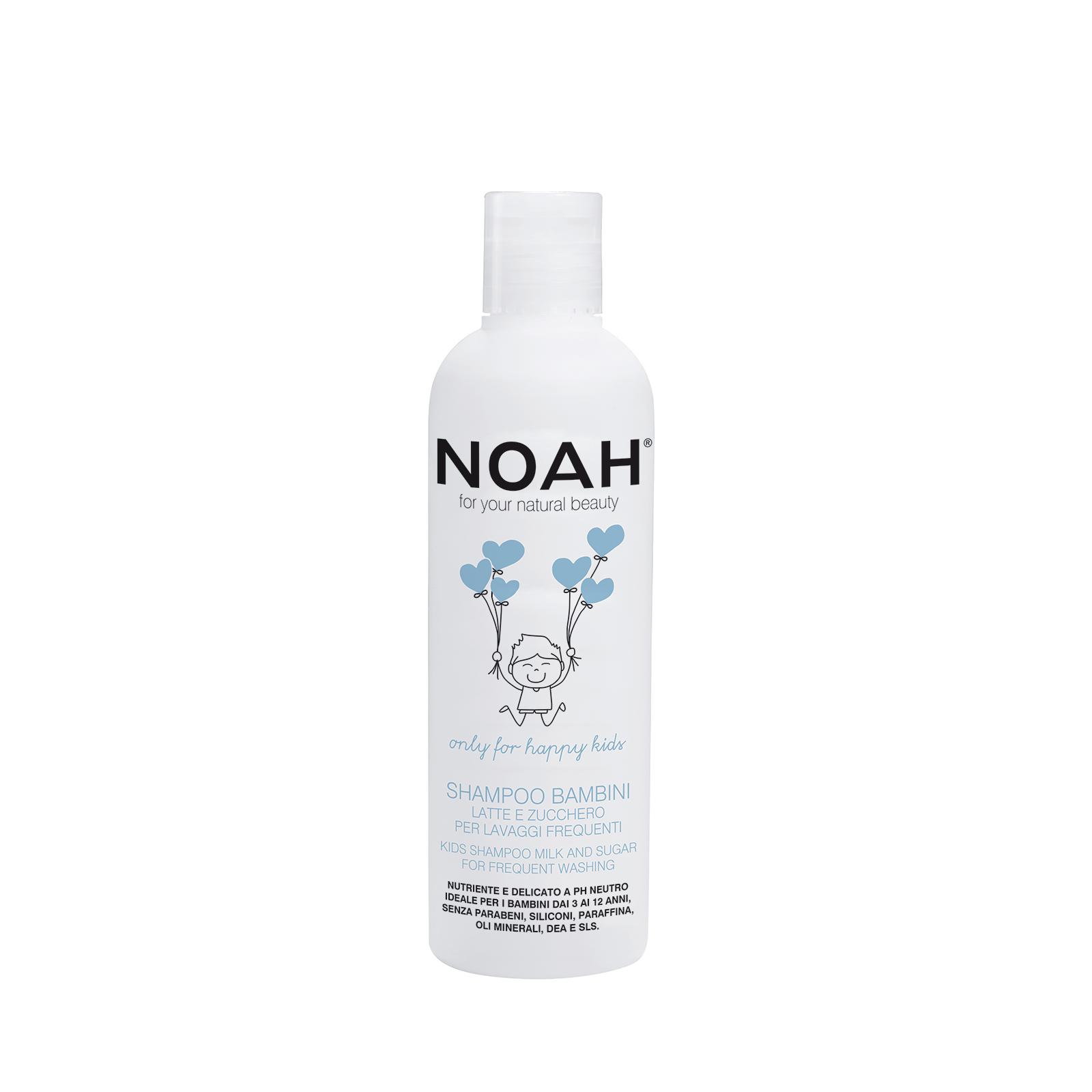 Vaikiškas maitinamasis šampūnas NOAH su pienu ir cukrumi dažnam naudojimui, 250 ml