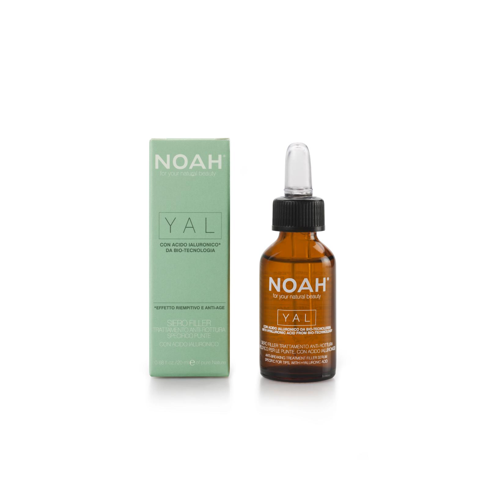 Gydomasis hialurono serumas NOAH lūžinėjantiems ir pažeistiems plaukams, 20 ml