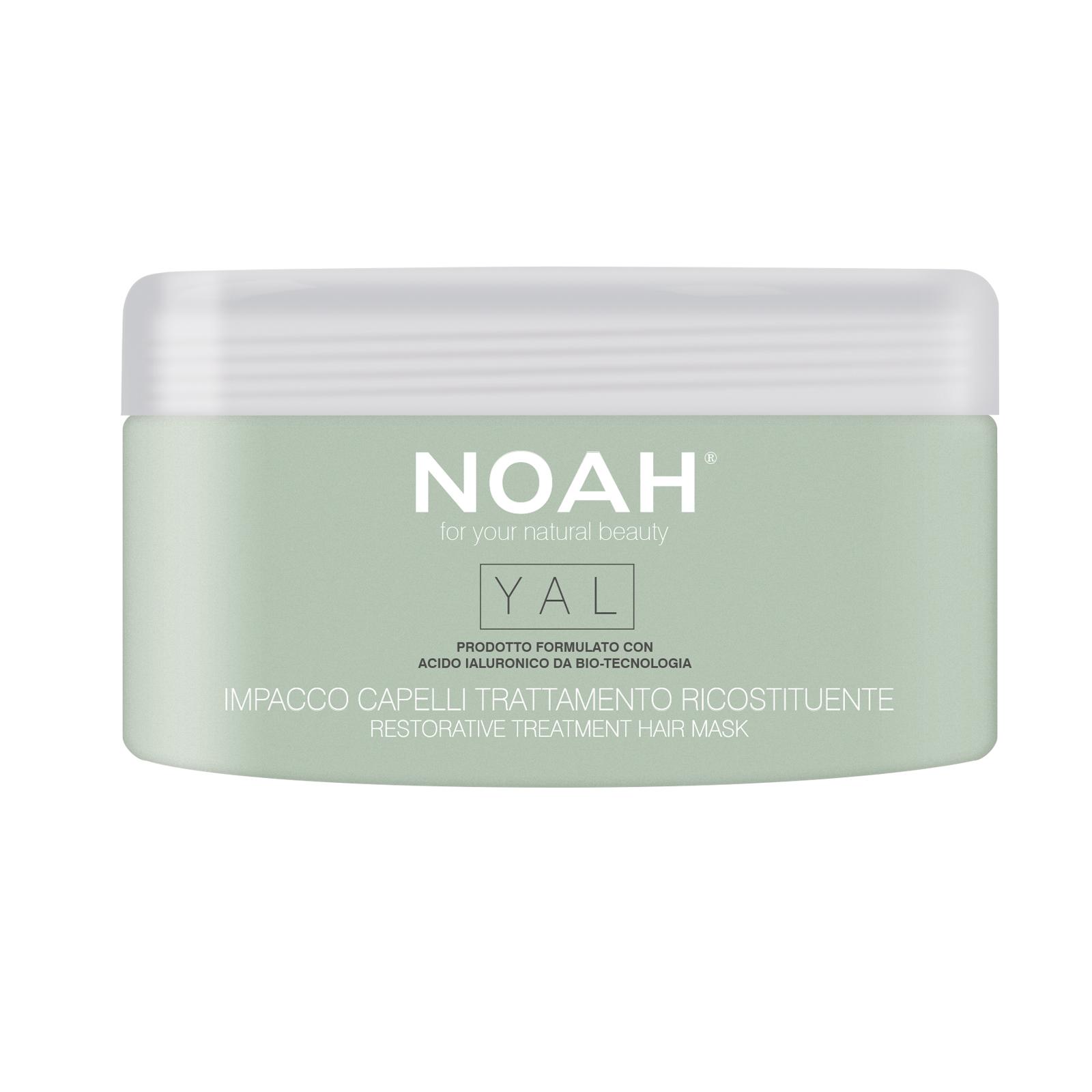 Gydomoji atkuriamojo poveikio plaukų kaukė NOAH su hialuronu, 200 ml
