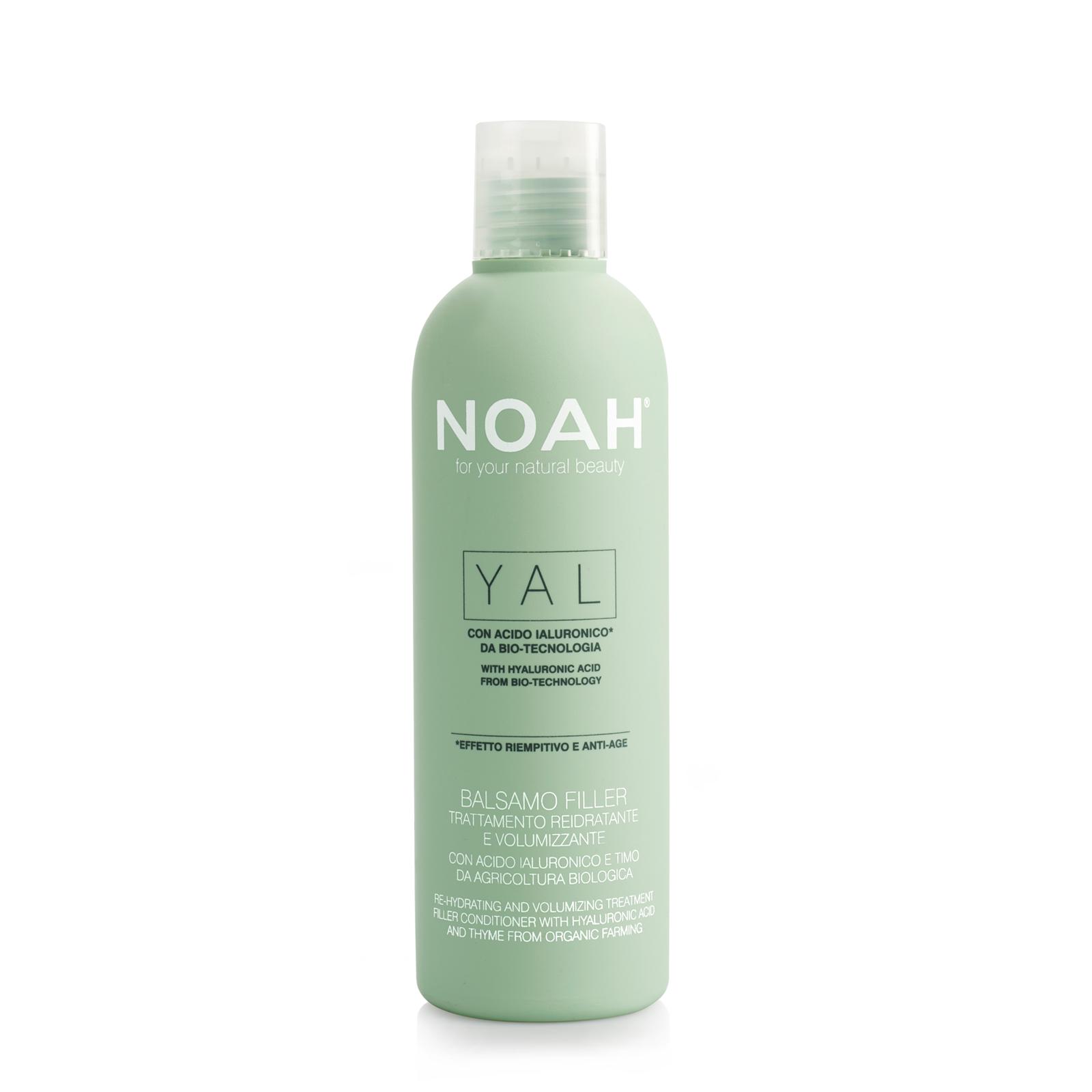 Gydomasis drėkinantis ir purumo suteikiantis balzamas NOAH su hialurono rūgštimi ir čiobreliais iš organinių ūkių, 250 ml
