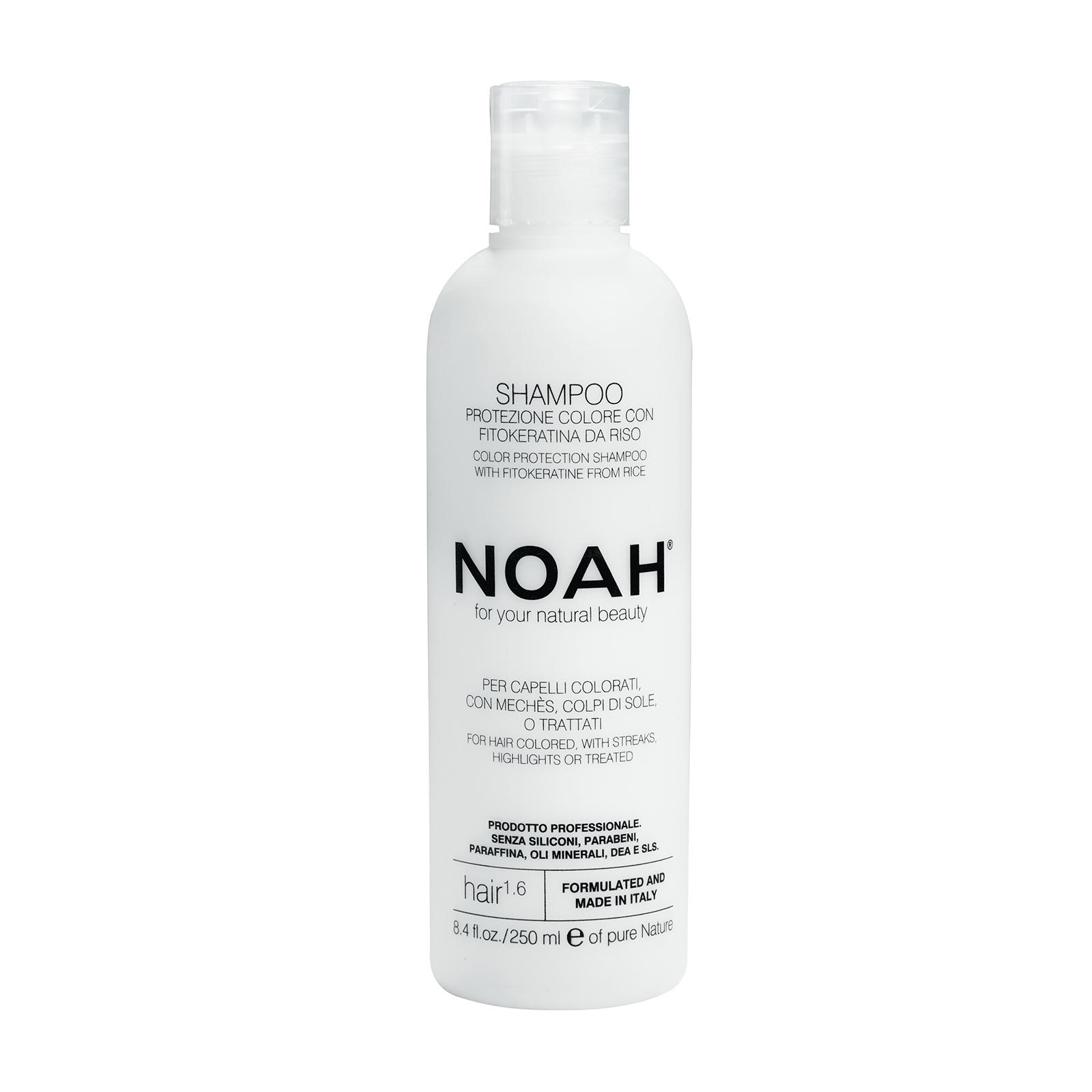 Šampūnas NOAH dažytiems ir sruogelėmis dažytiems plaukams, 250 ml