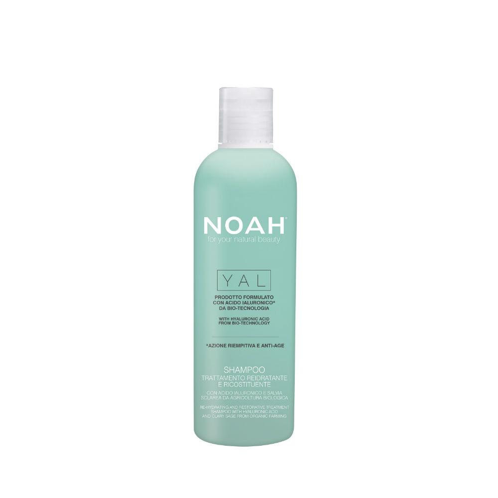 Atkuriamasis drėkinantis šampūnas NOAH su hialurono rūgštimi ir šalaviju iš organinių ūkių, 250ml