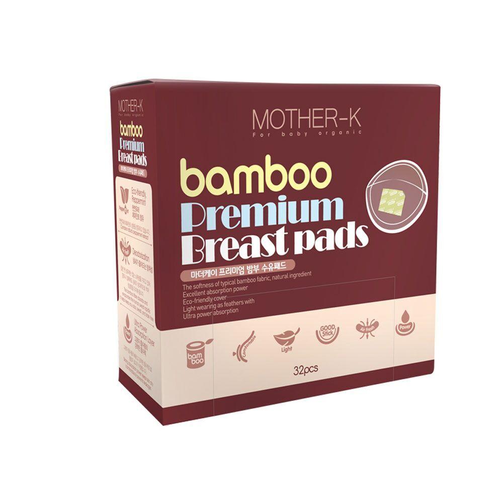 Ekologiški bambukinio pluošto, vienkartiniai įklotai į liemenėlę MOTHER-K, 32vnt.